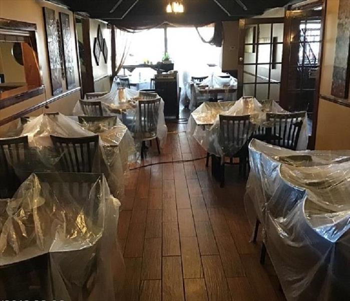 Local Restaurant back to business in no time after water damage