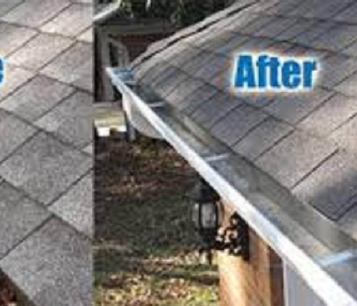Gutter after cleanup