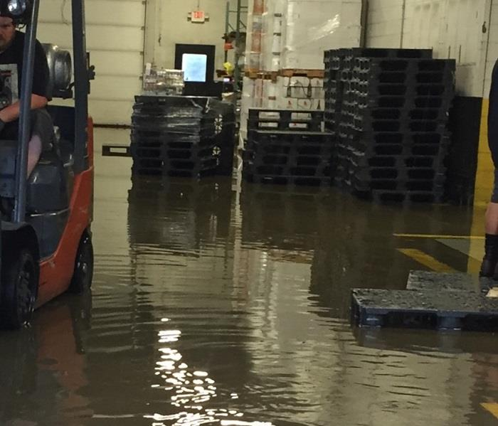 Commercial Warehouse Flooded